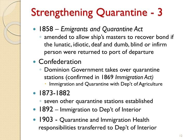 Strengthening Quarantine - 3