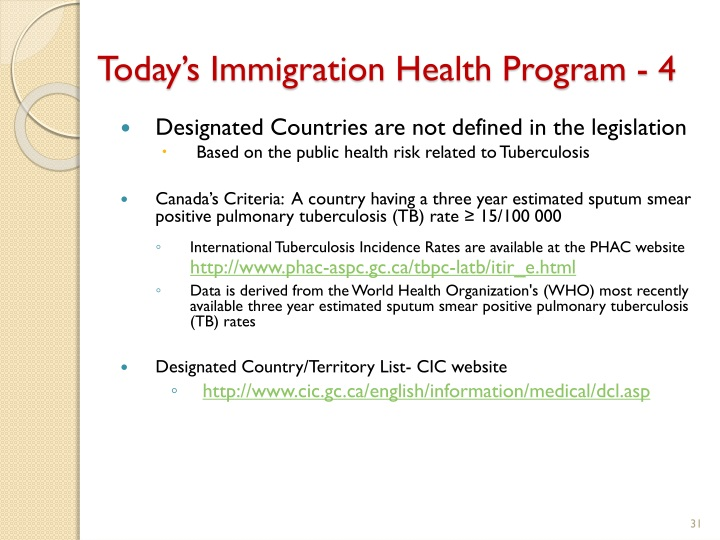 Today's Immigration Health Program - 4
