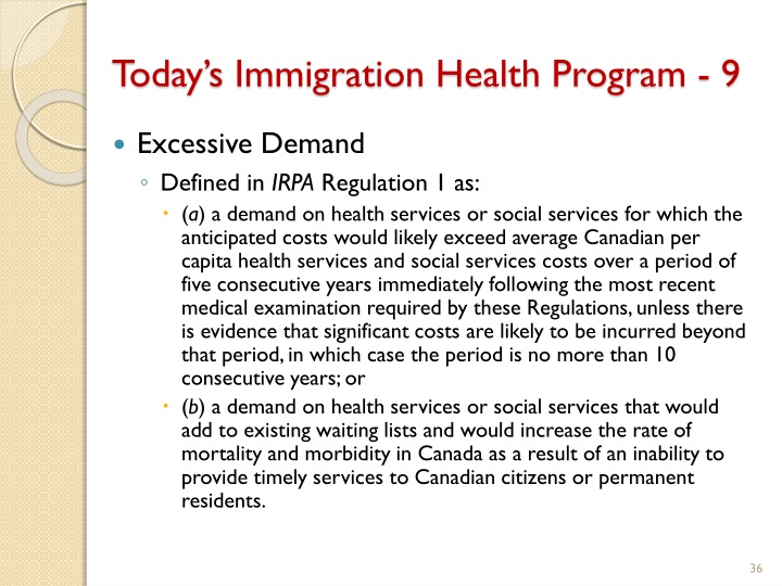 Today's Immigration Health Program - 9