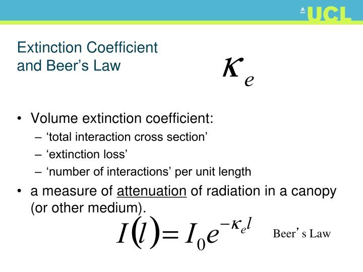 Extinction Coefficient
