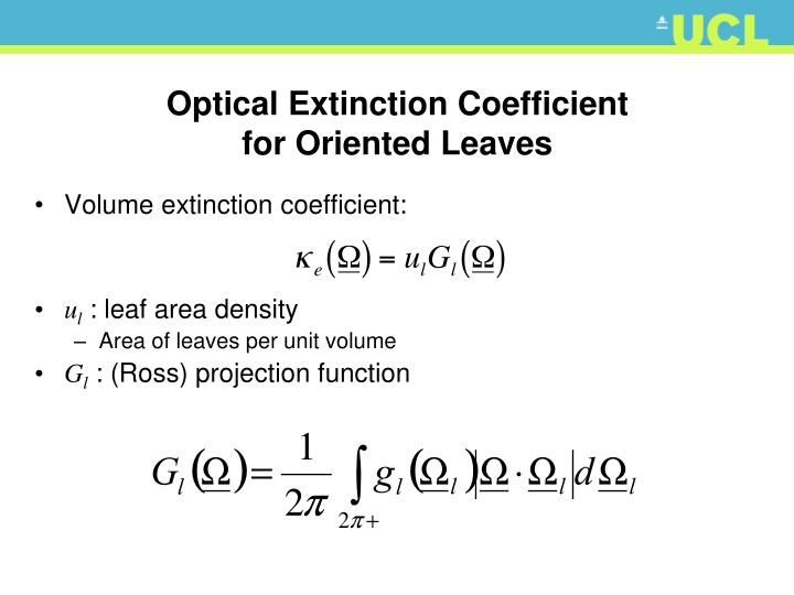 Optical Extinction Coefficient