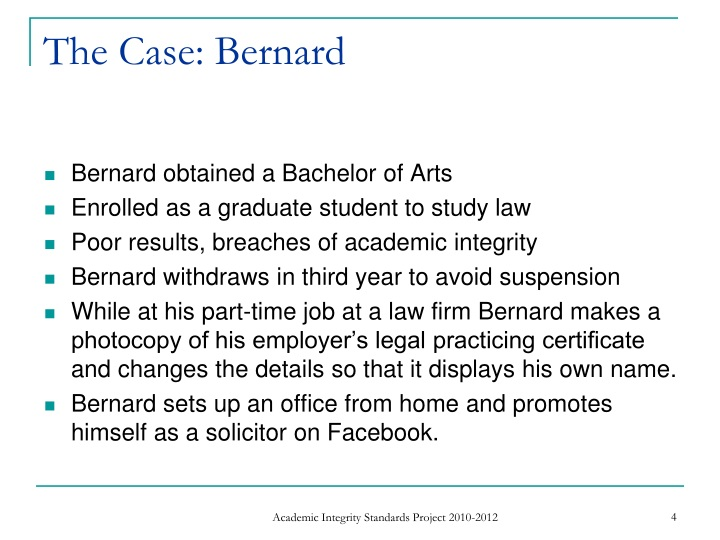 The Case: Bernard