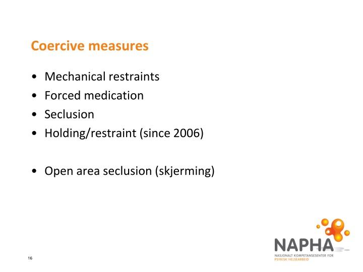 Coercive measures