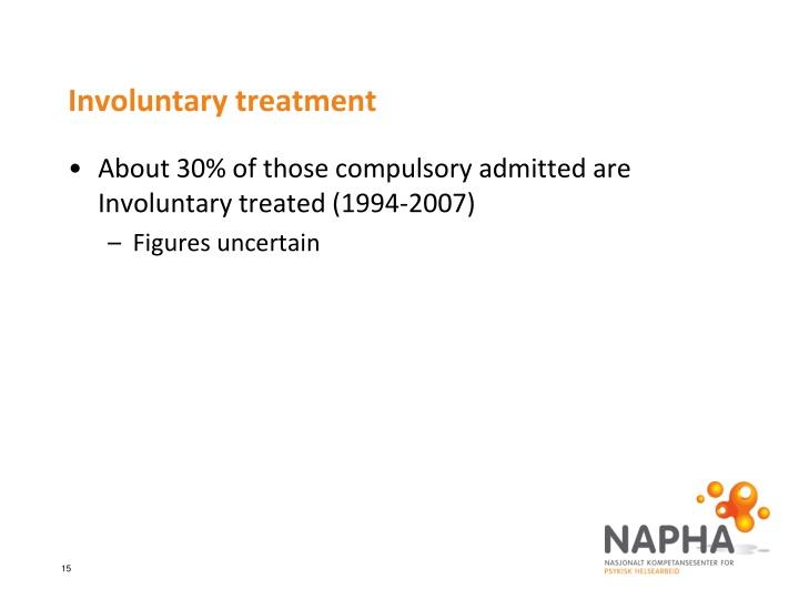 Involuntary treatment