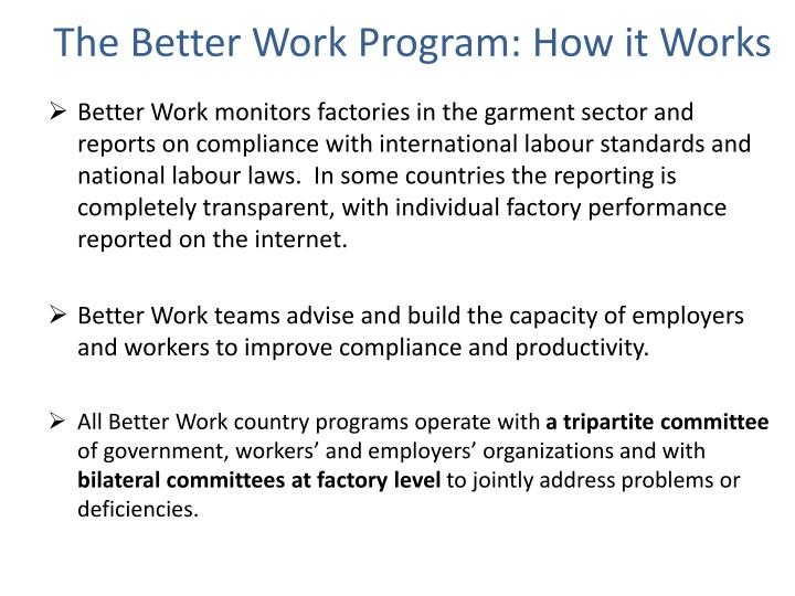 The Better Work Program: How it Works