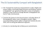 the eu sustainability compact with bangladesh