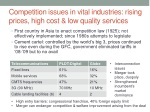 competition issues in vital industries rising prices high cost low quality services