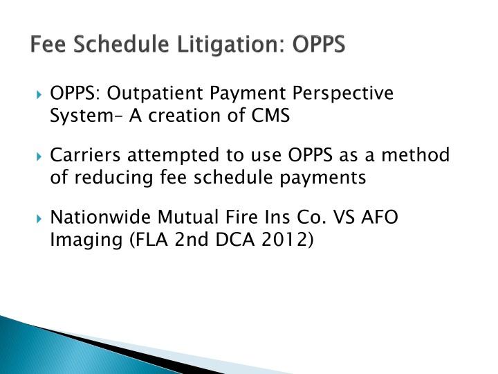 Fee Schedule Litigation: OPPS