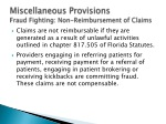 miscellaneous provisions fraud fighting non reimbursement of claims