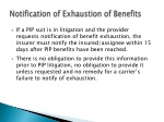 notification of exhaustion of benefits