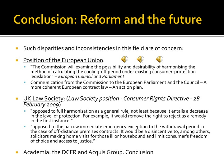 Conclusion: Reform and the future