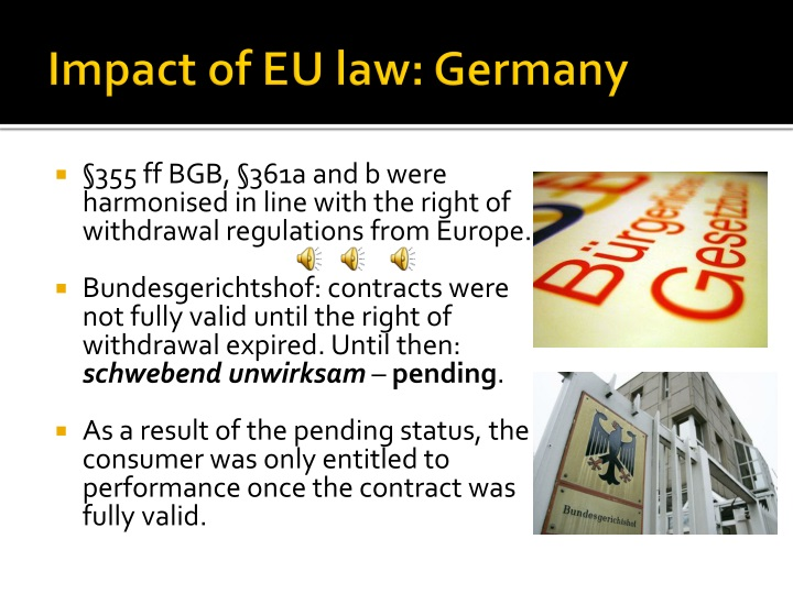 Impact of EU law: Germany