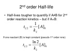 2 nd order half life