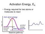 activation energy e a