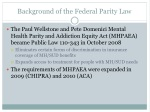 background of the federal parity law
