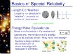 basics of special relativity1