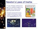 newton s laws of inertia