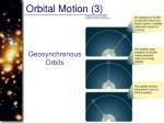 orbital motion 3