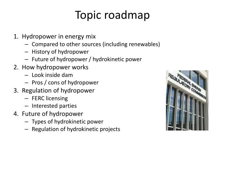 Topic roadmap