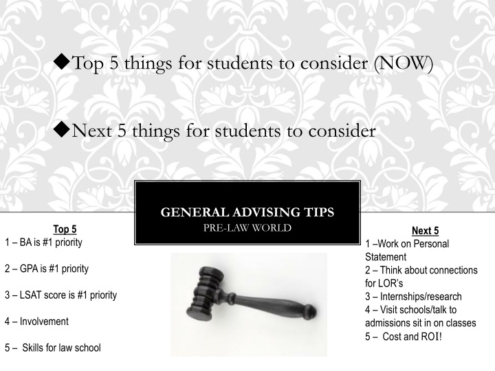 Top 5 things for students to consider (NOW)