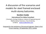 a discussion of fire scenarios and models for steel framed enclosed multi storey balconies