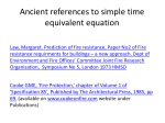 ancient references to simple time equivalent equation