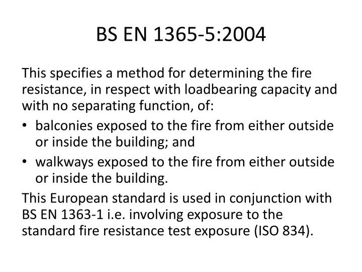 BS EN 1365-5:2004