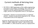 current methods of deriving time equivalent