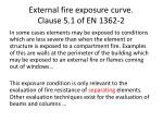 external fire exposure curve clause 5 1 of en 1362 2
