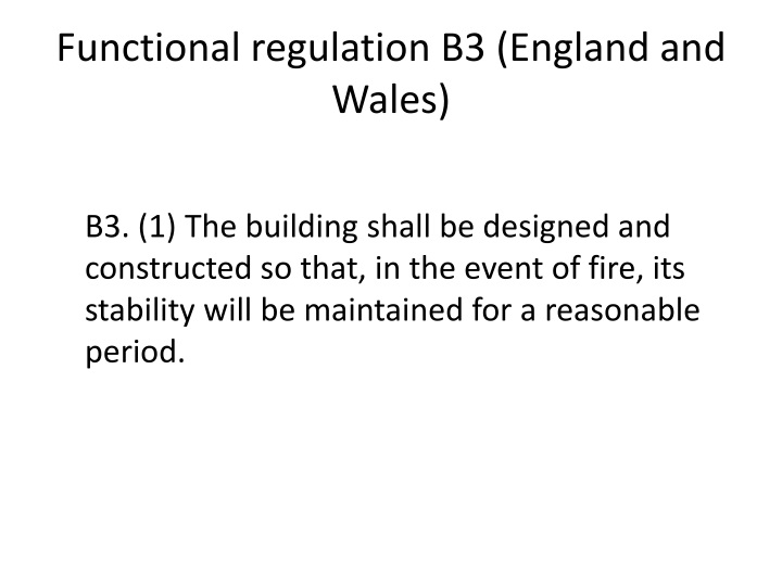 Functional regulation B3 (England and Wales)