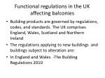 functional regulations in the uk affecting balconies