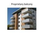 proprietary balcony