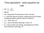 time equivalent early equation by law