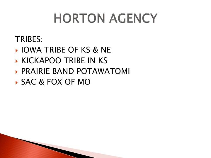 HORTON AGENCY