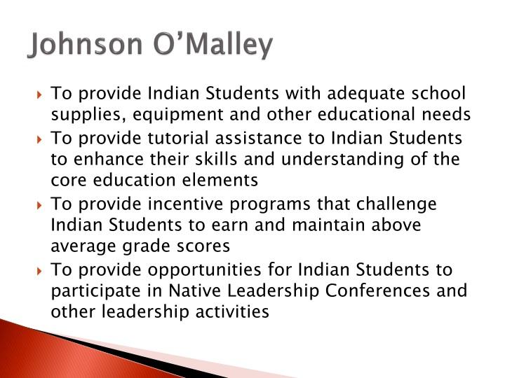 Johnson O'Malley