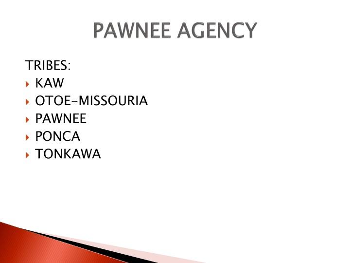 PAWNEE AGENCY
