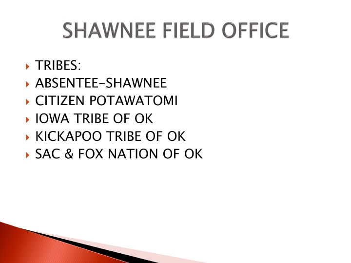 SHAWNEE FIELD OFFICE