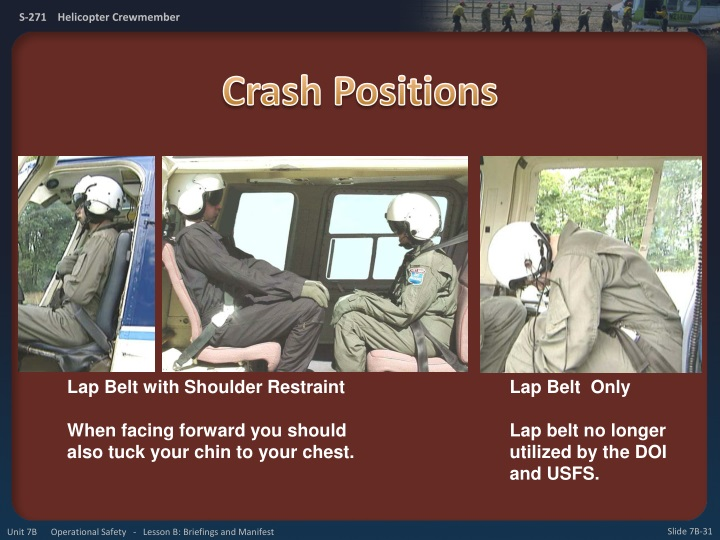 Crash Positions
