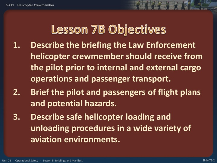 Lesson 7b objectives