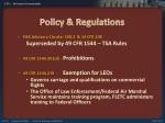 policy regulations