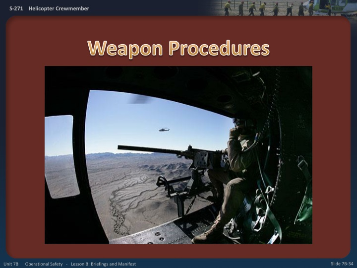 Weapon Procedures