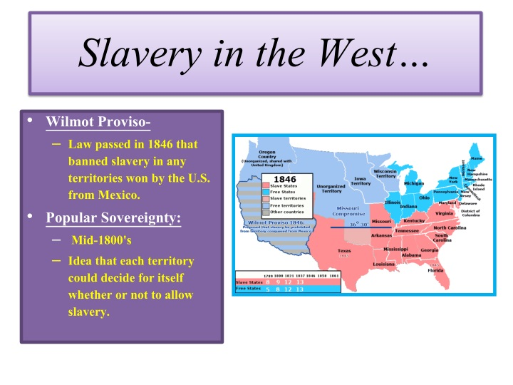 Slavery in the West…