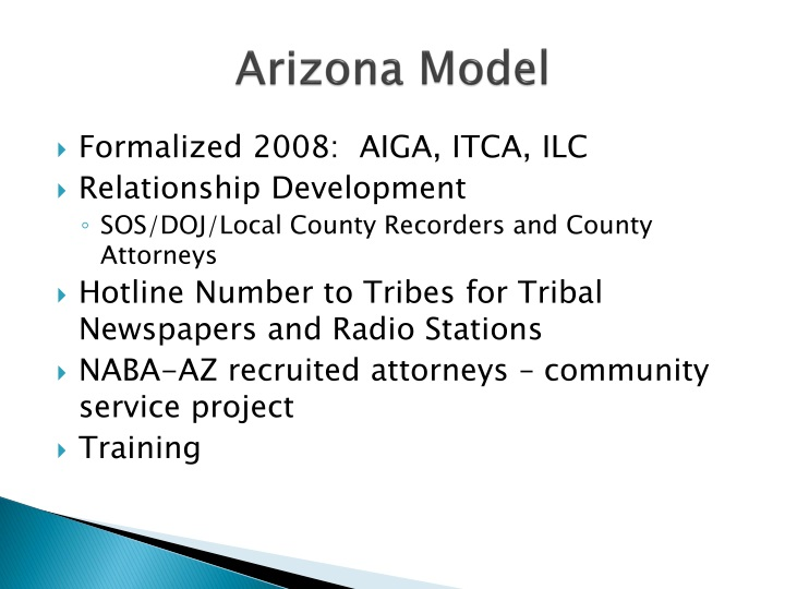 Arizona Model