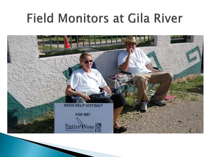 Field Monitors at Gila River