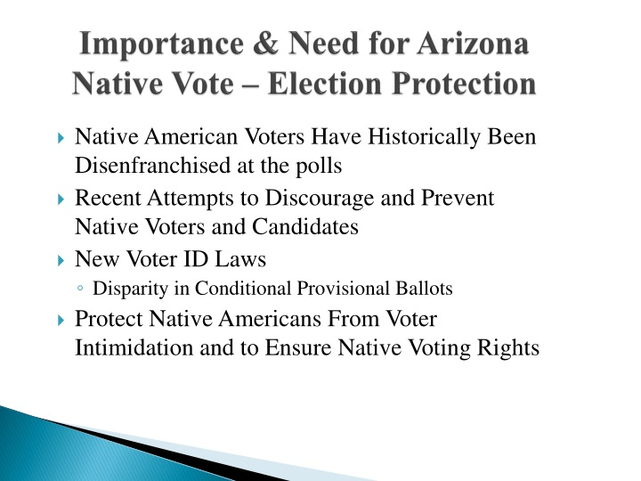 Importance need for arizona native vote election protection