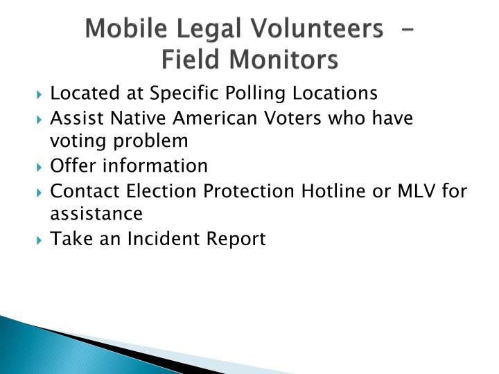 Mobile Legal Volunteers  -