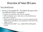 overview of voter id laws
