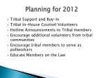 planning for 2012