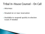 tribal in house counsel on call