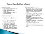 types of major incidents to report